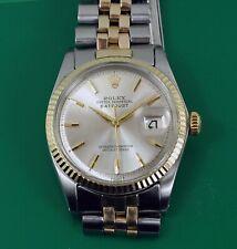 Vintage 1965 Rolex Oyster Perpetual DateJust Men's Watch Ref. 1601 Pie pan Dial