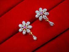 AD23E, Daphne Pink Flower Earrings for Cute Look, Casual Wear