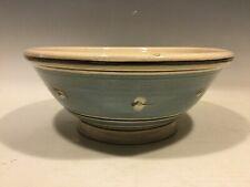 "Mochaware Redware Bowl~ Turtle Creek Potters ~ 10 3/4"" Dia.  ~  Inscribed Mark"