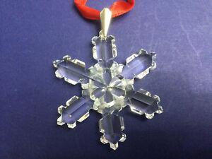Swarovski Crystal Star/Snowflake Christmas 1992 Ornament 168 690 / SCO1992. MINT