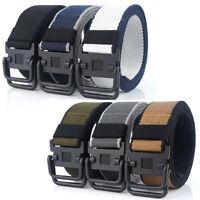 "1.5"" Mens Canvas Belts Double Loops Buckle Sports Casual Trousers Belt Web Belts"