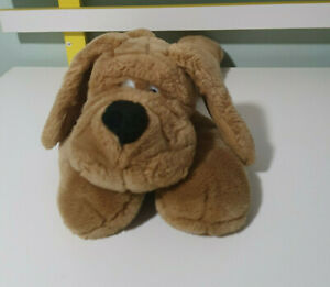AURORA DOG PLUSH TOY BROWN DOG TOY BEANS IN BUM STUFFED ANIMAL 45CM