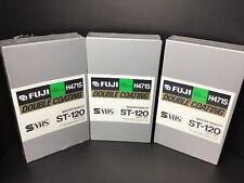 Fuji Blank Video Cassette Tape Lot of 3 ST-120 New Sealed