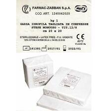 GARZE IDROFILE 1Kg TAGLIATE 20 X 20 COMPRESSE STESE STERILIZZABILI MONOUSO MED'S