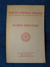North Central College-Plainfield & Northwestern Alumni Directory 1861-1926