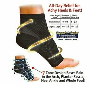 Compression Recovery Foot Sleeves-Ankle and Plantar Fasciitis Support PAIR Socks