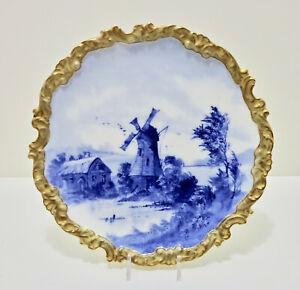 Antique Doulton Burslem Cabinet Plate, Artist Signed