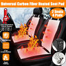 2 Seats 5 Level Switch Car Seat Heater Heated Cushion Pad Carbon Fiber