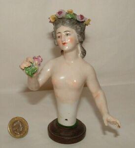 Rare Antique Doll Dressel Kister Half Doll Gorgeous Lady Ornate MW108-501