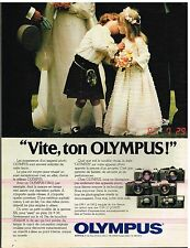 Publicité Advertising 1982 Appareil photo Olympus OM-1 et OM-2