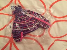 Jojo maman bebe Striped Girls Pom Pom Hat.Up To 12 Months. RRP £14.New With Tag.