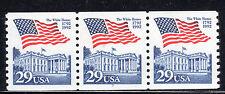 Sc# 2609 29 Cent Flag over White House (1992) Mnh Pnc/3 P# 6 Scv $1.75 Read