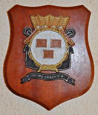 Hr Ms Drachten plaque shield crest Dutch Navy Netherlands gedenkplaat