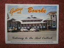 BOURKE   NEW  SOUTH  WALES  GATEWAY TO THE REAL  OUTBACK  VIEW  FOLDER     [461]