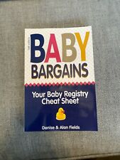 Baby Bargains : Your Baby Registry Cheat Sheet! Honest and Independent...