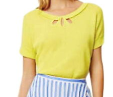 Anthropologie Sun Spot Top XSmall OVERSIZED Yellow Shirt Keyholes Breathable NWT