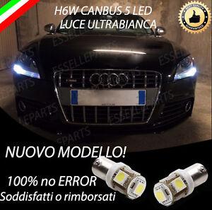 COPPIA LUCI DI POSIZIONE 5 LED PER  AUDI TT H6W CANBUS 100% NO ERRORE