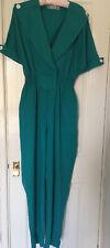Vintage 80's Green Jumpsuit Size 12