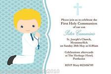 10 Personalised Communion Invites Boy New Design 5
