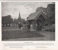 1897 Vittoriano Stampa ~ Stoke Poges Chiesa ~ Buckingham Forti ( Testo