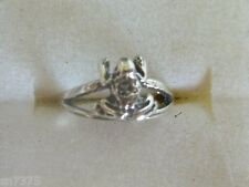 Frog toe ring genuine .925 sterling silver