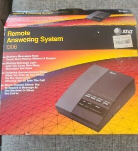 AT&T 1306 Remote Answering System Micro Cassette Tape Telephone Message Machine