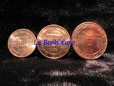 Monnaie 1,2,5 centimes cent cts euro Malte 2008, neuves du rouleau, UNC