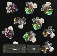 DIY 3D Nail Art Decoration Bows Flowers Roses Rhinestone Gems Stickers uk#1