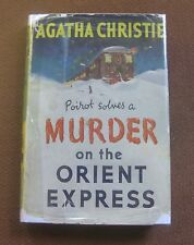 MURDER ON THE ORIENT EXPRESS by Agatha Christie - 1955 Collins UK- HCDJ -Poirot
