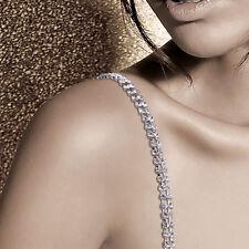 Adjustable 2pcs Double Rows Crystal Rhinestone Bra Shoulder Straps Belt Useful