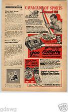 1952 PAPER AD Gilette Razor Howard Hill Archer Safari Movies Super-Speed Blades