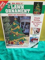 Plaid BIG BILL'S Lawn Ornament Iron On Patterns  ~ Christmas Tree