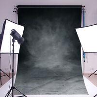 5x7FT Vintage Grey Black Cloth Studio  Backdrop Photography Vinyl Background HOT