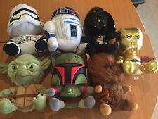 Star Wars stuffed figurines 7 characters 24cm high
