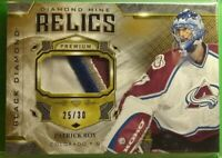 2019-20 Upper Deck Black Diamond Diamond Mine Relics Patrick Roy 4 Color...