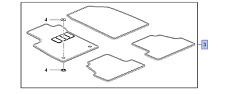 Vauxhall Tapis Set - Neuf d'ORIGINE - 39026740