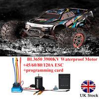 1:10 Car BL3650 3900KV Waterproof Brushless Motor 60A Brushless ESC+Program Card