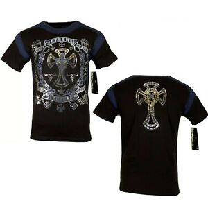 """AFFLICTION """"CROSS OF STEEL"""" Xtreme Couture Mens Medieval XXL T shirt NEW UFC tee"""
