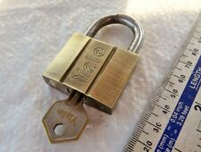 Vintage YALE Brass Padlock No:40 with Key, gwo Old Tool