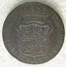 ESPAGNE SPAIN ESPANA : 6 QUARTOS 1841 CATALOGNE CATALUNA