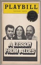 """A Lesson From Aloes""  Playbill 1980  James Earl Jones, Maria Tucci  Broadway"