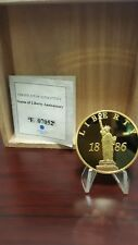 American Mint 1886 Statue Of Liberty Commemorative proof Coin Swarovski crystal