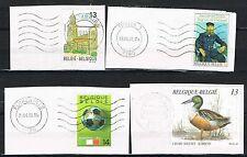 Belgium 1989/1990. 4 items 'on piece'. Nice postmarks. Van Gogh/Duck/Football.