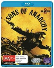 SONS OF ANARCHY (COMPLETE SEASON 2 - BLU RAY SET SEALED + FREE POST)