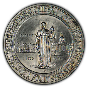 1936-D Columbia 50c Commemorative Half Dollar - Frosty Orig Luster - SKU-X1375