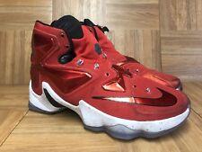b8fb77ee926 RARE🔥 Nike LeBron XIII 13 Away Gym Red Black Sz 8 Men s Basketball 807219-