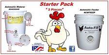 CHICKEN  STARTER  SET -1 Automatic Waterer &1 NO WASTE Automatic Chicken Feeder