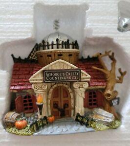 Hawthorne Village Disney Halloween Harvest Scrooges creepy countinghouse