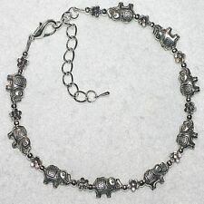 Lucky Elephants Flowers Daisy Chain Summer Anklet Ankle Bracelet Jewellery Gift
