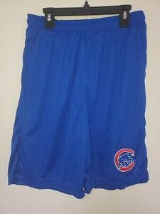 0724 Mens Majestic CHICAGO CUBS Jersey Polyester SHORTS Royal New
